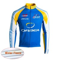 ORBEA 2018 Men Team Winter Thermal Fleece Cycling Long Sleeve Jersey Bike Clothing Racing Bicycle Shirt Maillot Ciclismo D1202