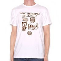Inspired by Monty Python T Shirt What The Romans Ever Did For Us Cult Movie summer o neck tee, free shipping cheap tee