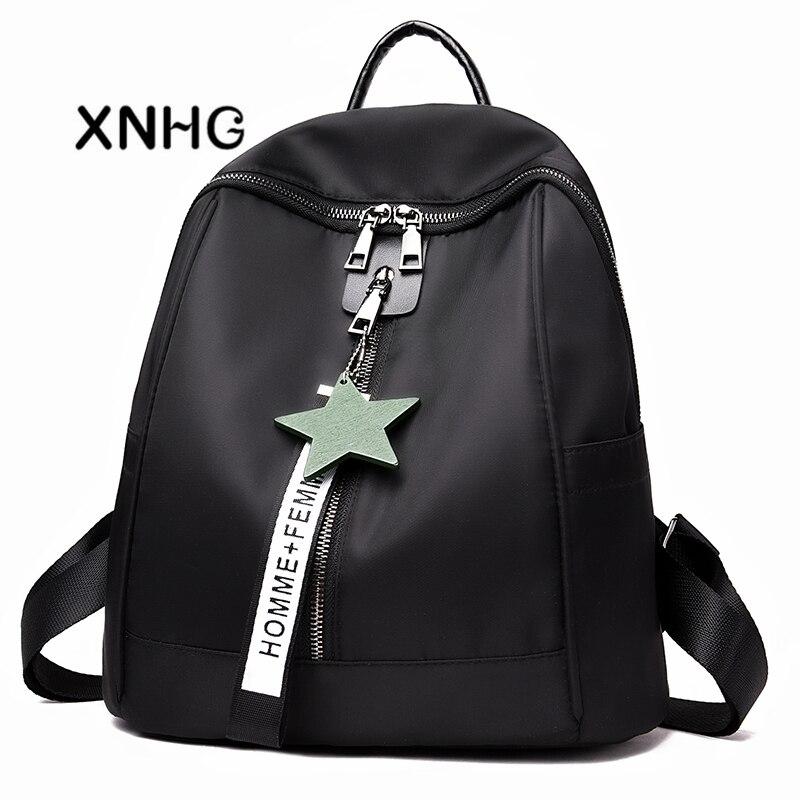 Backpack Women Leather Oxford Backpacks High Quality Pu Bagpack Black Back Pack Rucksack Female School Bags Bags For Women 2018