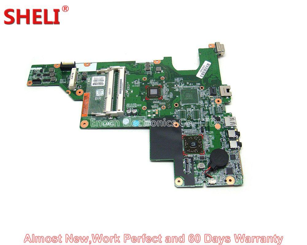 цена на SHELI for HP CQ43 CQ57 435 635 2000-300 657323-001 657324-001 Laptop Motherboard System Board UMA E450 work perfect Main Board