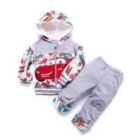 Bebek Boys Snowsuit Yenidoğan Boys Giyim Set Kış Set Çocuklar Karakter Çocuk Bebek Giyim Desenler Kapüşonlu Ceket Takım