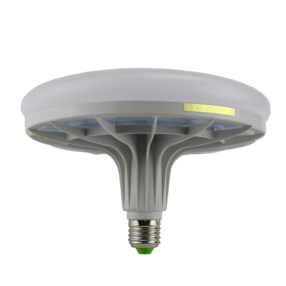 UFO led flat light bulb 18W new thermal plastic screw LED bulb E2 LED Light Report lamps for home 220V voltage high-brightness