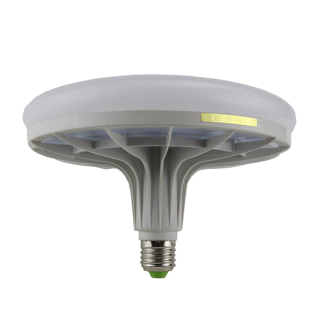 Ufo Led Flat Light Bulb 18w New Thermal Plastic Screw Led Bulb E2 Led Light Report Lamps For
