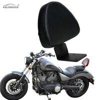 KOLEROADER Motorcycle Passenger Backrest Cushion Sissy Bar Pad For Victory Vegas Gunner Kingpin High Ball Boardwalk