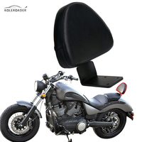 KOLEROADER Motorcycle Passenger Backrest Cushion Sissy Bar Pad For Victory Vegas Gunner Kingpin High Ball Boardwalk