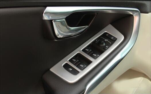 Convient pour Volvo V40 remise en état spécial intérieur fenêtre clés réaménagement V40 acier inoxydable mat matériau pâte décorative