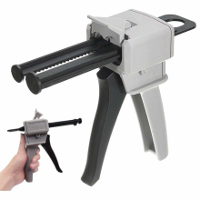 Two component AB glue dispensing gun caulking cartridge dispenser 50ml 1:1 and 2:1 Durable explosion-proof plastic factory price