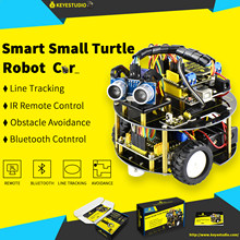 keyestudio smart small turtle Robot car/Smart car for Arduino Robot Education Programming+manual+PDF(online)+7 Projects+Video(China)