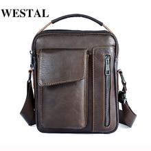 WESTAL сумка Для мужчин из натуральной кожи сумка мужской Повседневное масло кожа небольшой лоскут человек Crossbody сумки для Для мужчин Сумки
