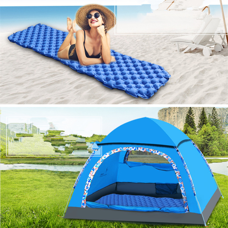 Image 5 - VILEAD Ultralight Portable Air Mattress Inflatable Cushion Sleeping Pad  for Camping Hiking Backpacking Self Travel 190*57 cm-in Air Mattresses from Sports & Entertainment