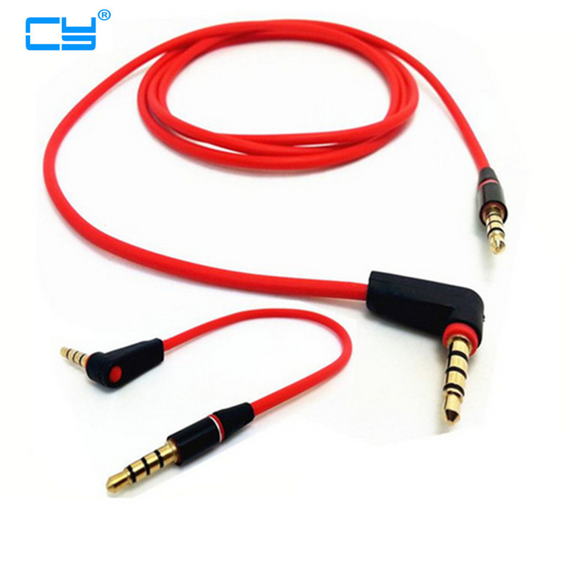 90 Degree Angled Short 4 Pole 3.5mm To 3.5mm Audio Cable Plug Jack 3.5 Male To Male Car Sound Wire Headphone For Phones 20/120cm