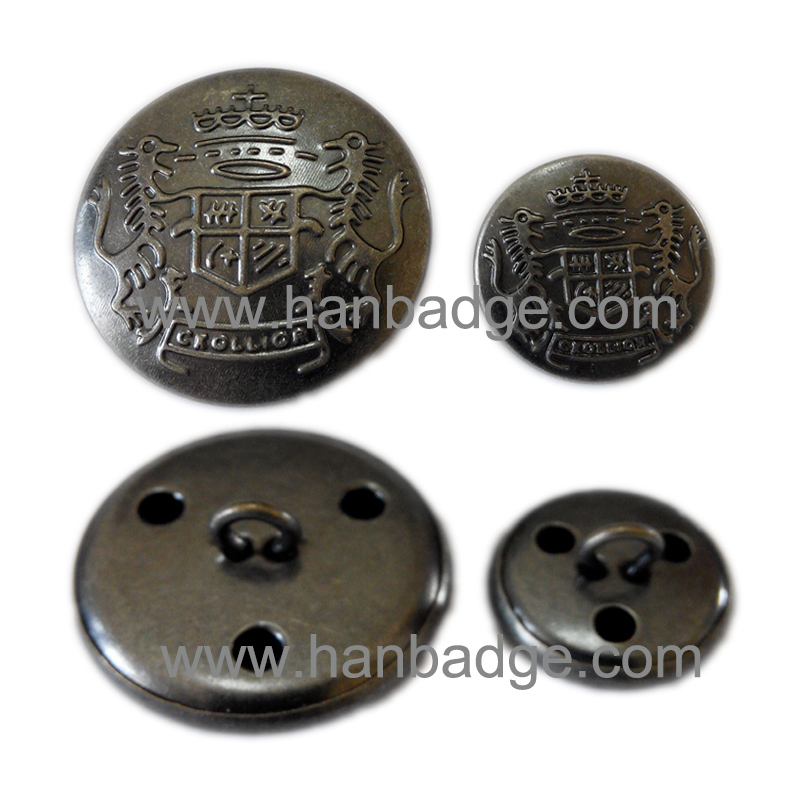 US $370 0 |Custom Police Buttons Customized Military Buttons In Custom Logo  With Shank Back In Antique Silver Finish-in Buttons from Home & Garden on