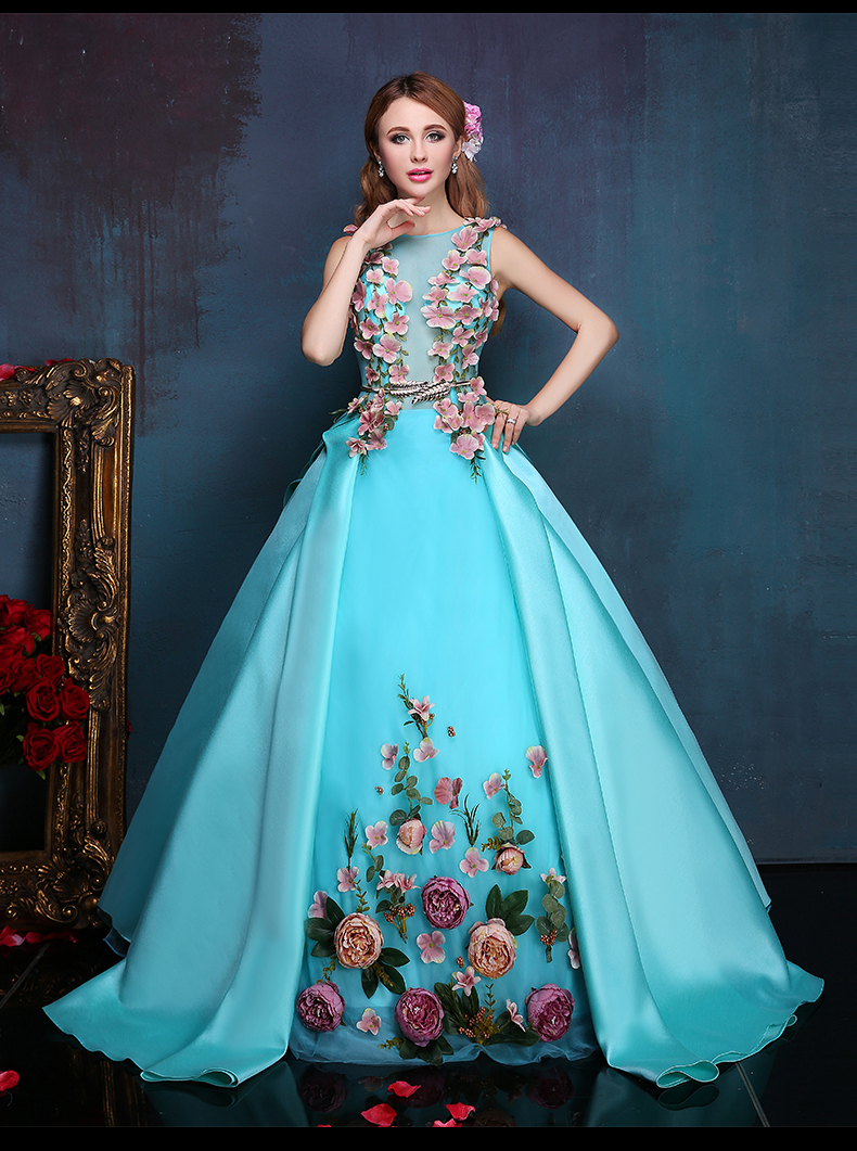 Collection Long Blue Silk Dress Pictures - Reikian