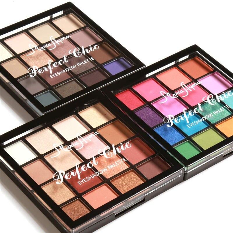 MARIA AYORA Novo 16 Cores Kit Maquiagem Sombra Pigmento Terra Quente Matte Shimmer Em Pó de Longa Duração Paleta Olhos Sombra