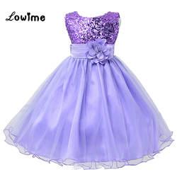 Дешевые платье с цветочным узором для девочек ES платья для девочек 2018 Comunion Детские Вечерние платья Vestido daminha Фиолетовое платье с цветочным