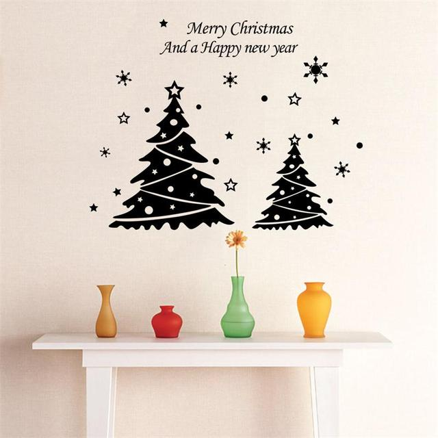 Rot grün schwarz weiß Baum Frohe Weihnachten Frohes Neues Jahr ...