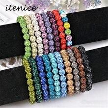 Shambala shamballa strand beaded bangles handmade stone charm bracelets chain crystal