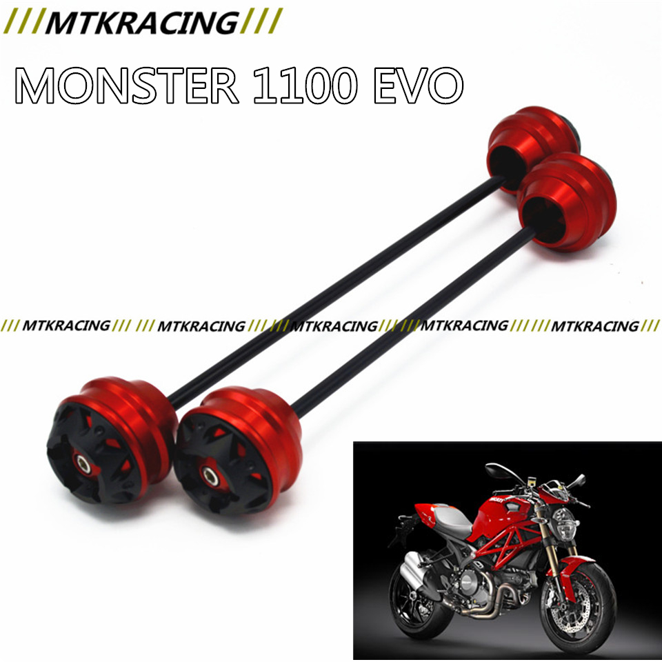 MTKRACING Free delivery for Ducati MONSTER 1100 EVO 2011-2013 CNC Modified Motorcycle Front wheel drop ball / shock absorber free delivery for ducati monster s4r 2003 2008 cnc modified motorcycle drop ball shock absorber