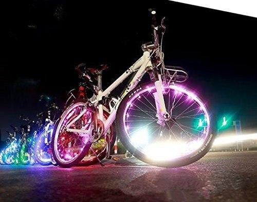 2 stuks wiel staaldraad led licht fiets wiel brightz waterproof led ...