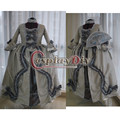Marie Antoinette Baroque Dress Adult Women Medieval Halloween Cosplay Costume Fancy Dress Ball Gown