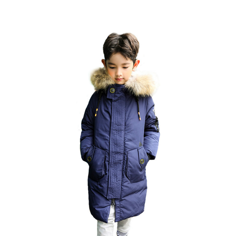 Children Down Jacket Cotton Men Long In The Long Paragraph Thick Fashion Leisure Winter цена