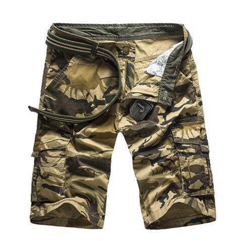 Lelaki tentera kargo kasual pendek penyamaran tentera pendek pendek - Pakaian lelaki - Foto 2