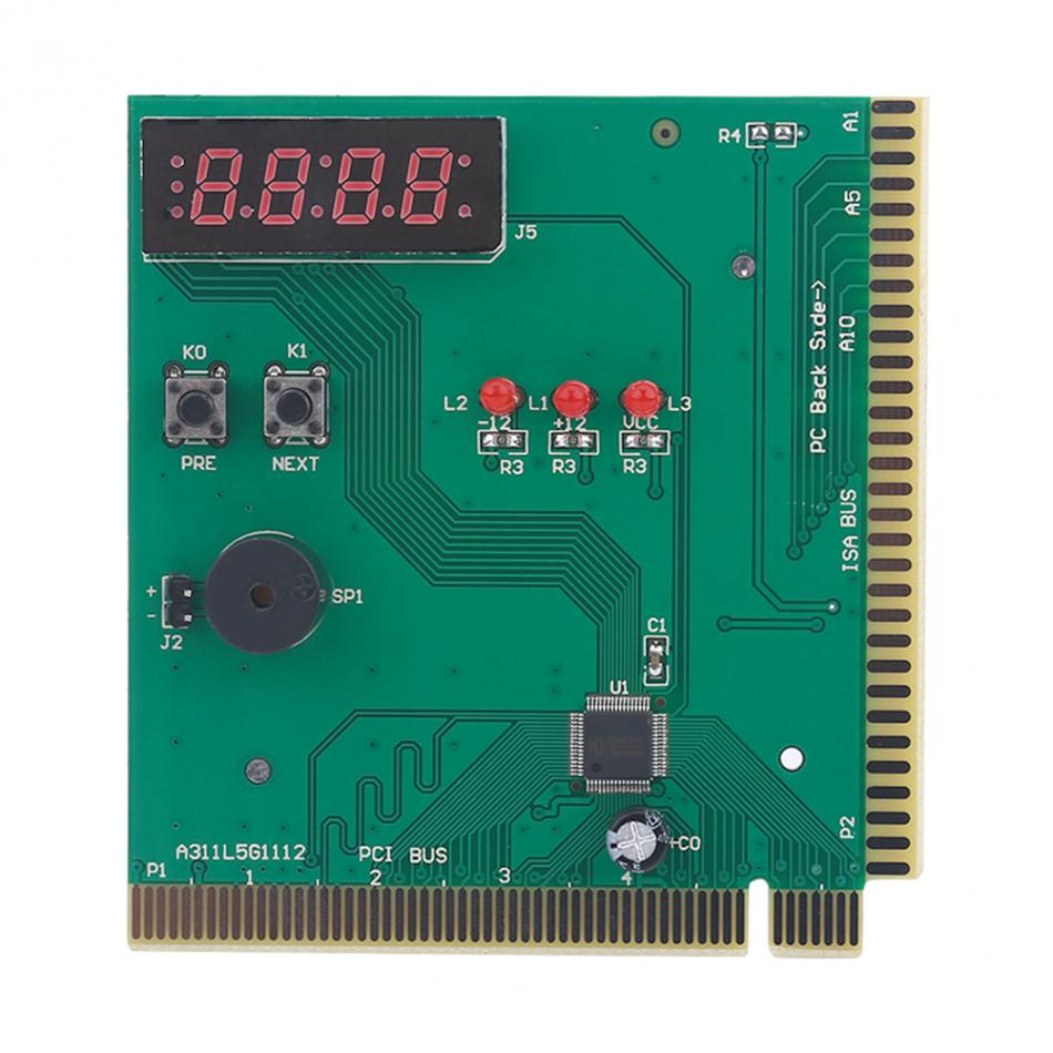Vbestlife 4 digit card pc analyzer computer diagnostic motherboard post tester for pci isa
