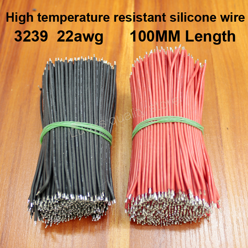 50pcs/lot High Temperature Silicone Wire 3239 22awg Solderable Rubber 0.3 Square Tinned Copper Fittings
