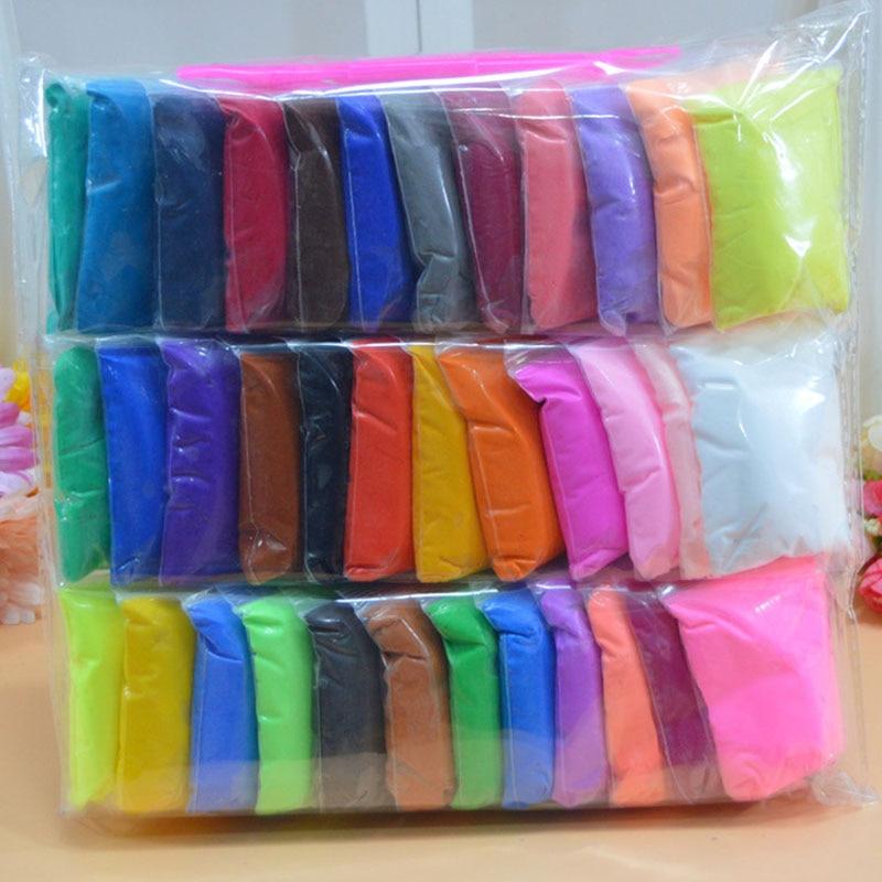36 colores con 3 herramientas de secado al aire súper ligero plástico arcilla plastilina colorida polímero educativo suave juguete de regalo