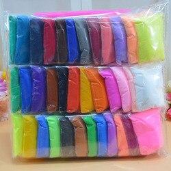 36 farben Modellierung Polymer Ton schleim rutsche lizun lysin Slyme flauschigen kinder Intelligente Plastilin Spielzeug Für Kinder Geschenke spiel