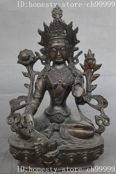 christmas tibet buddhism bronze green tara goddess guanyin buddha bodhisattva statue halloween