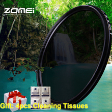 ZOMEi 52/55/58/67/72/77/82mm Ultra Slim ND2-ND400 Fader Variable Neutral Density Adjustable Lens Filter ND Filter Optical Glass nisi 150 170mm square soft gradial gradient graduated gray neutral density filter gnd8 0 9 optical glass reduce light 3 stop