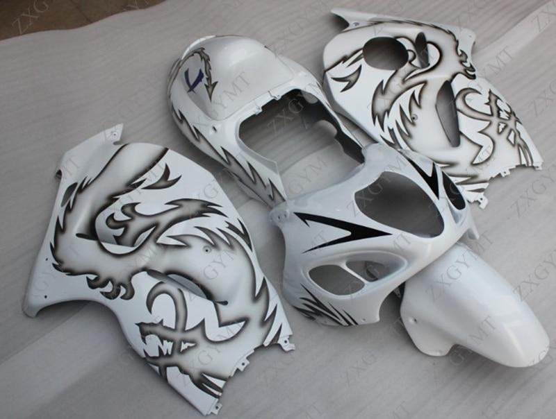 Fairings GSX R1300 1997 2007 Black White Fairing Kits GSX R1300 2002 Fairing GSXR 1300 2005