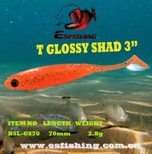 Fishing lures Shad Soft Crankbait Bait Tackle 10pcs 7cm/2.8g Esfishing Hot Sale T Glossy Shad 3″ 3D Eye Lifelike Shine Bass