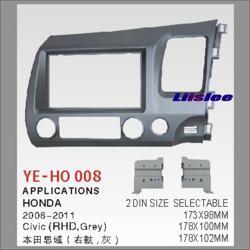 ФОТО For Honda Civic 2008~2011 Right Hand Drive Car Radio Dash Board Kit 2 DIN ABS Plastic Fascias Car Audio Panel Frame Fascia