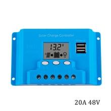 Mando de cargador solar TX4820 20A 48V, pantalla LCD de 100W, 200W, 300W, 400W, 500W y 600W, reguladores de carga con temporizador