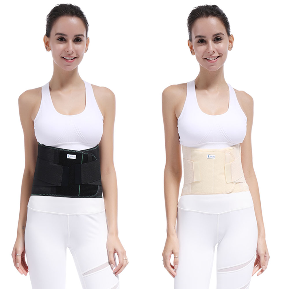Lumbar Lower Waist Double Adjustable Back Belt For Pain Relief Durable Black Waist Support Brace Belt Gym Sports Accessories women men waist support belt corset m l xl xxl black xtreme hot belt orthopedic back brace for gym trainers free shipping