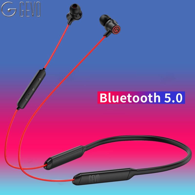 Écouteurs sans fil Bluetooth GEVO écouteurs sans fil sport basse son sans fil avec micro pour écouteurs Iphone Xiaomi