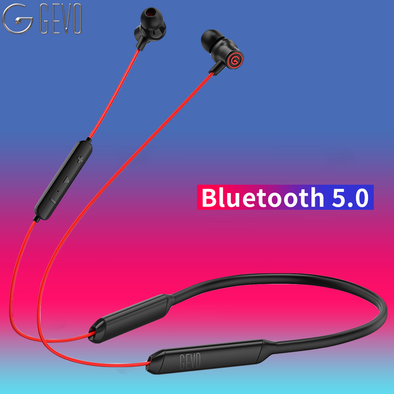 GEVO Bluetooth Earphone Wireless Headphones Running Sports Bass Sound Cordless Ear phone With Mic For Iphone Xiaomi Earbuds