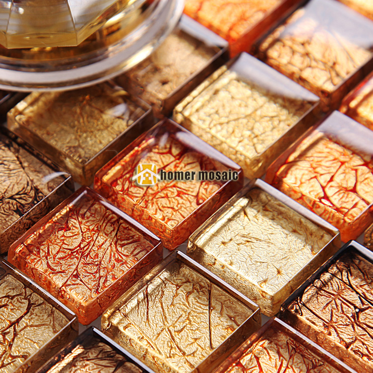 free kitchen tiles mediterranean style gold foil mirror mosaic tiles 1070