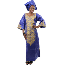 MD bazin riche african dresses for women print clothing embroidery africa traditional head wraps dashiki