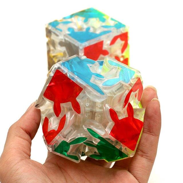 Магия Шестерни куб головоломка куб 2x2x2 Твист Головоломка прозрачный Cube дети подарок ребенку мозг обучения игрушки Мэджико Cubo