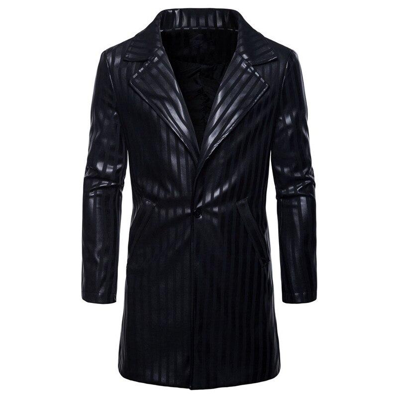 Nouveaux La S Américaine De Veste En xxl Grande Pu Et Automne Mode Longue Noire Cuir Européenne 2019 Hommes Black Taille TJK3clFu15