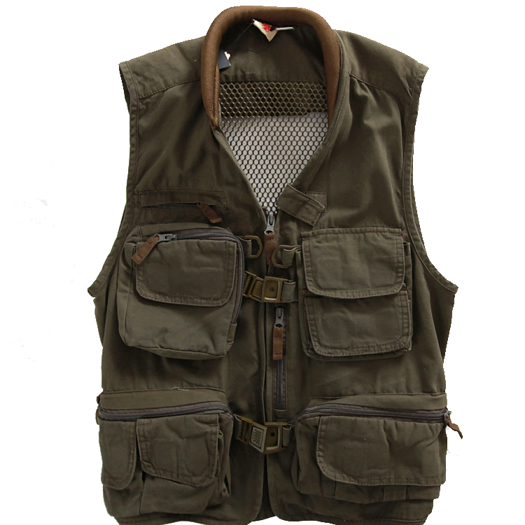 Man and women outdoor cotton tactical fishing vest for Womens fishing vest