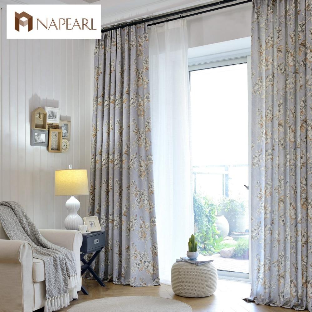 cortinas de linho impressa moderna cortinas do quarto pas da amrica estilo decorativo varanda telas da