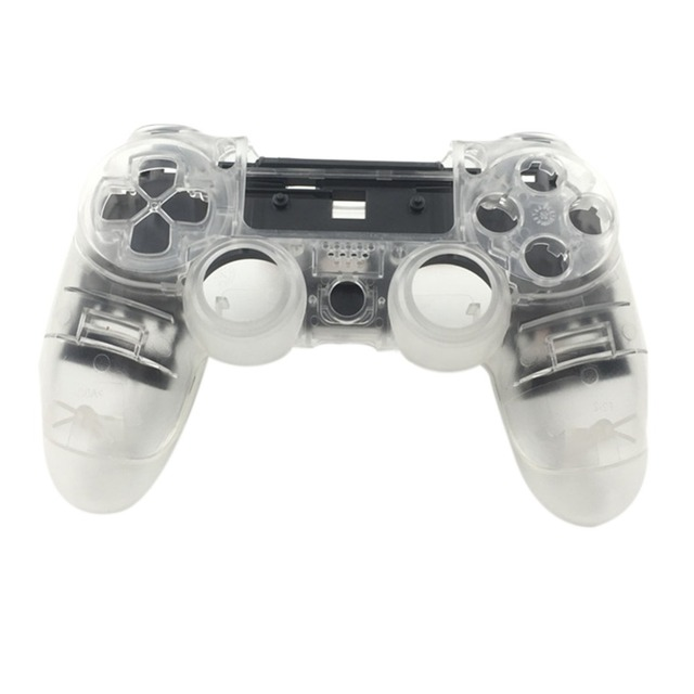 US $11 41  Replacement Transparent Shell for PS4 Pro 4 0 Controller  Dualshock 4 Replace Front Back Housing Case for Sony PS4 Pro 4 0 Dual-in  Cases