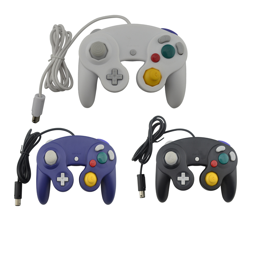 10 pièces contrôleur de jeu d'interface USB filaire manette Joypad pour PC manette compatible pour Nintendo N G C Controle-in Gamepads from Electronique    1