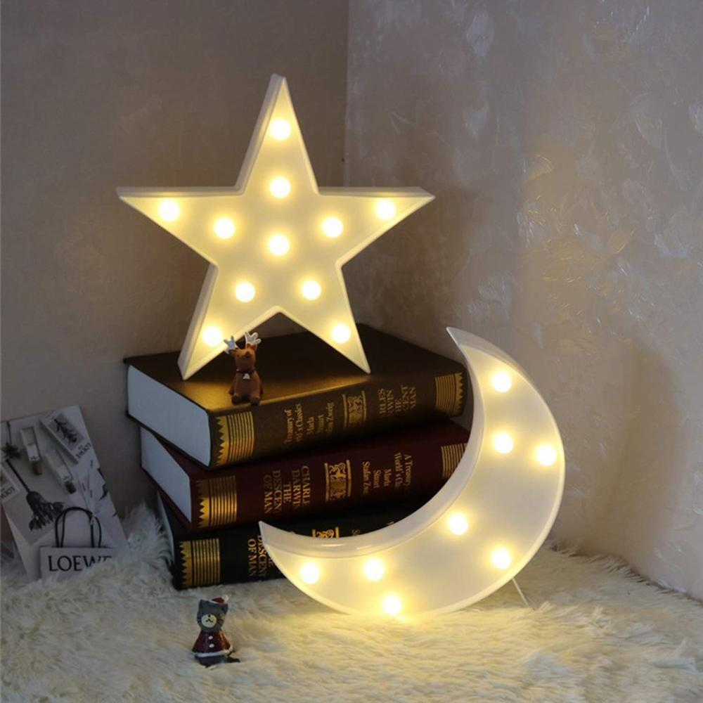 Lovely Cloud Star LED 3D Light Night Light Kids Gift Toy For Baby Children Bedroom Tolilet Lamp Decoration Indoor Lighting in LED Night Lights from Lights Lighting