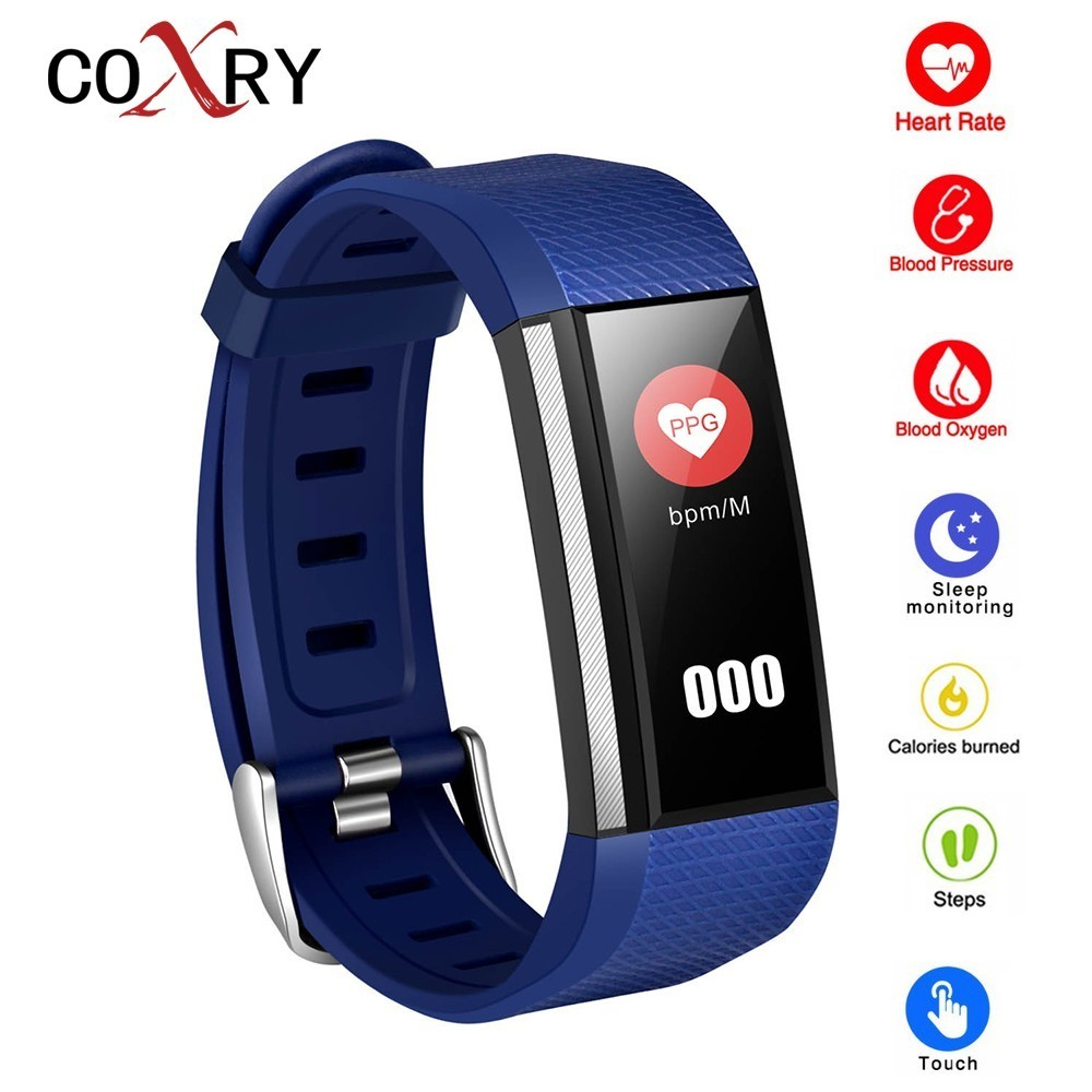 COXRY Vibration Smart Watch Children Sports Bracelet Pedometer Heart Rate Kids Digital Watch Men Electronic Wrist Watches Girl coxry fitness smart watch women digital watches blood pressure sports heart rate pedometer sleep led calorie counter wrist watch