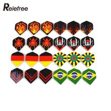 60Pcs Popular Pattern Nice Darts Tail Flights Wing Mixed Style for Professional Darts Wing Tail Cool Outdoor Sports 4.3*3.5cm(China)
